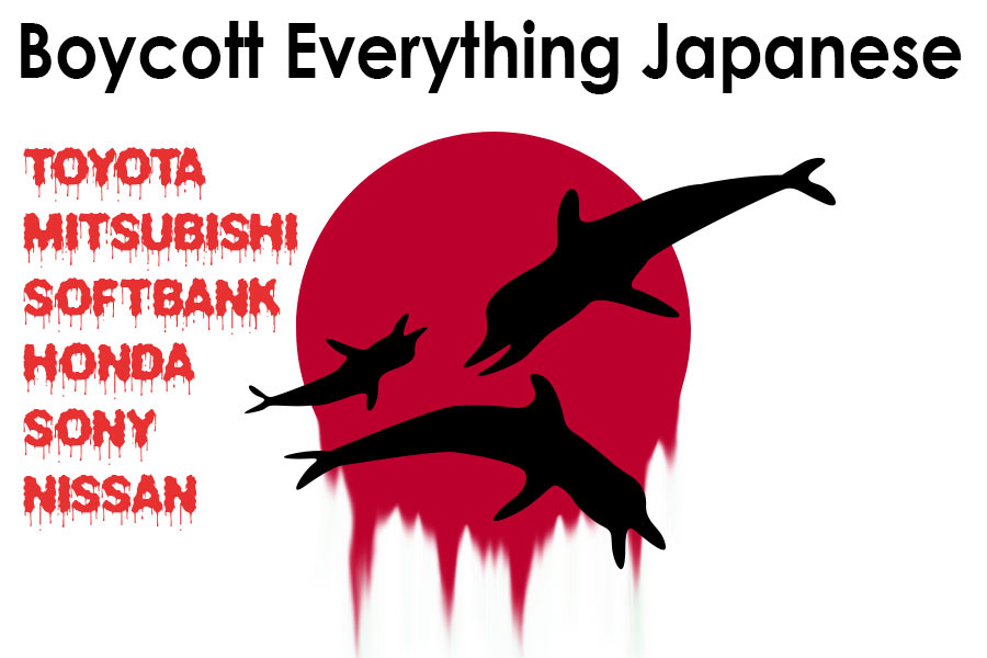 A call to boycott all Japanese products until they stop all forms of whaling.