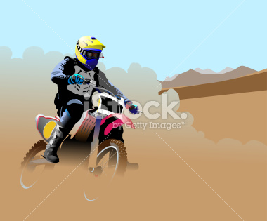 Desert Dirt Bike Racer