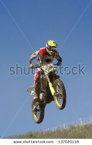 Motocross motorcycle jump 2
