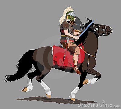 Roman Cavalry Illustration